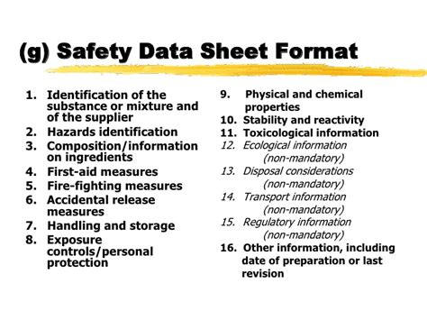 osha sds template osha on hazcom and ghs