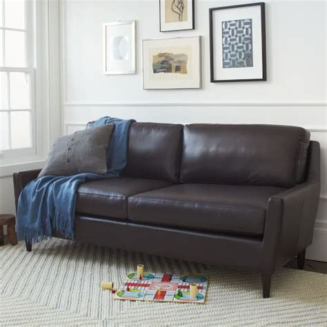 everett sofa everett leather sofa west elm