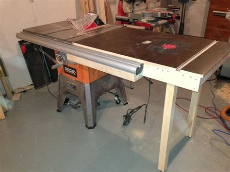 ridgid r4512 extension table my ridgid r4512 table saw setup with router table