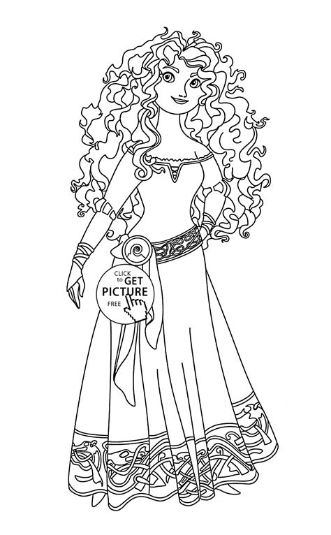 brave coloring pages brave merida coloring page for disney princess