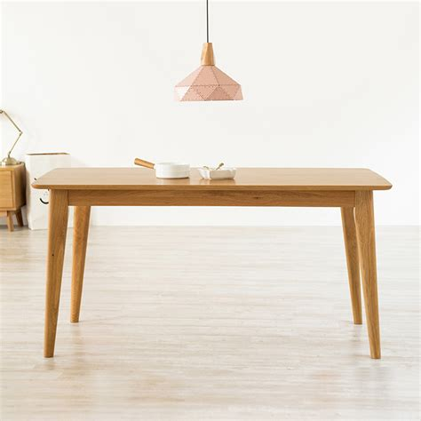 Small Solid Wood Dining Table Usd 389 08 White Oak Solid Wood Nordic Dining Table Modern Minimalist Small Apartment Japanese
