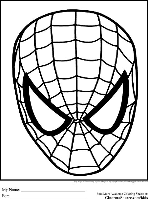 spiderman head coloring page free spider man mask cliparts download free clip art