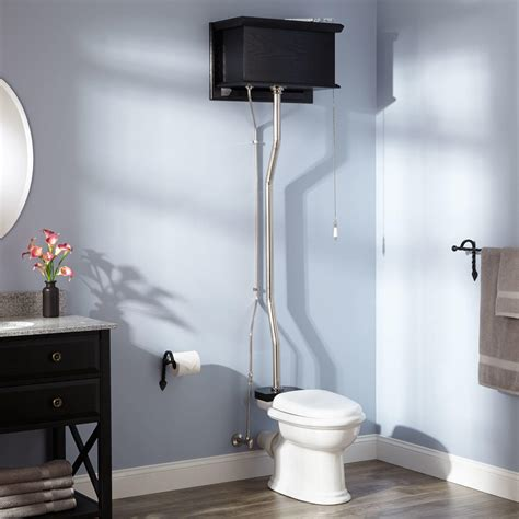 high tank water closet bathroom