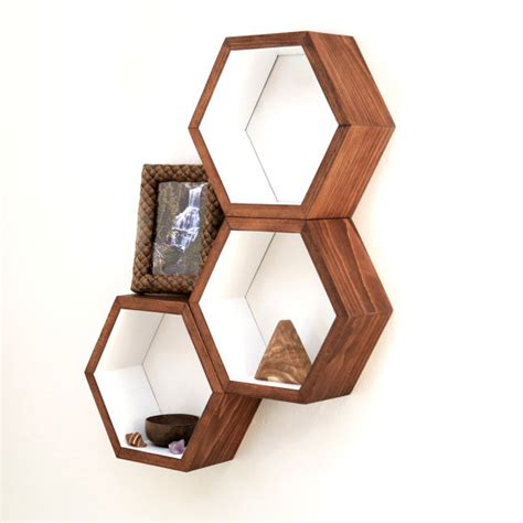 honeycomb cubby shelves wall shelving by haasehandcraft on