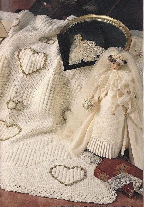 pattern wedding pinterest wedding afghan vintage crochet pattern hearts doves