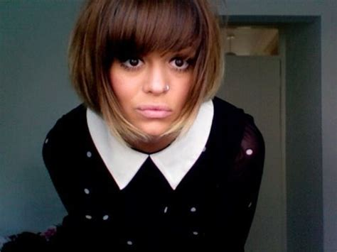 www yayhairstyles com permed ombre bob w bangs love the cut and color yay i feel