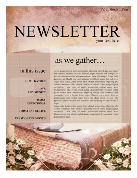 christian newsletter templates scripture church newsletter template newsletter templates