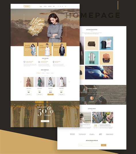online shopping store ecommerce template free psd download