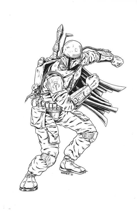 free coloring pages of boba fett para colorear