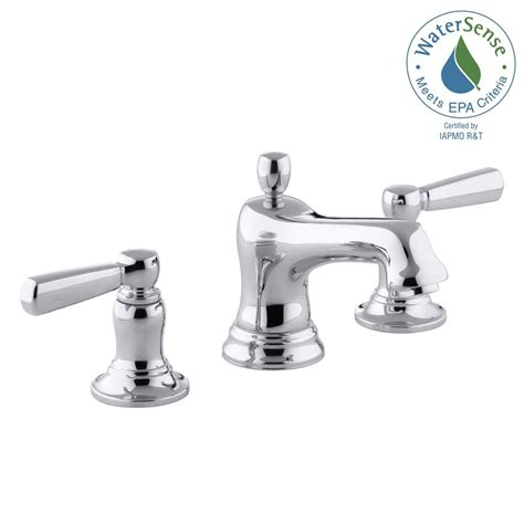 8 bathroom faucet kohler bancroft 8 in widespread 2 handle low arc bathroom faucet in chrome k 10577 4 cp the