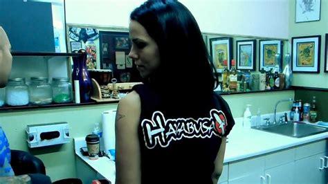 christina leora visits pussykat tattoo parlor las vegas