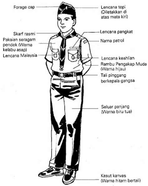 Baju Guru Pengakap kedudukan lencana pengakap