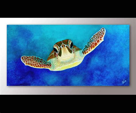 Seashore Home Decor sea turtle painting print sea turtle art sea turtle decor