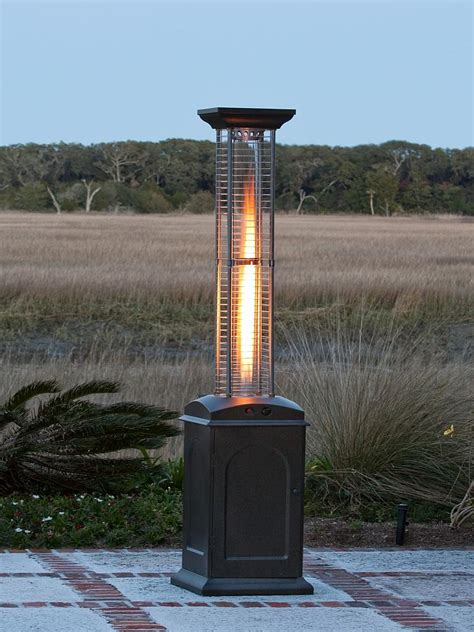 mocha finish square lpg propane heater