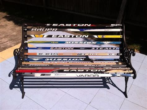 hockey bench hockey stick bench this was a perfect way to recycle old bench ends i used broken