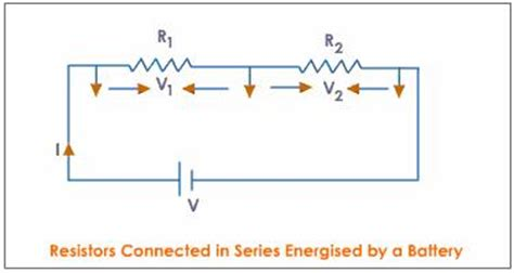 two resistors are connected in series with a battery what are the laws of combination of resistances meritnation