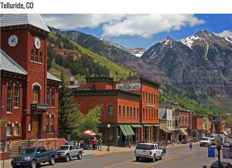towns in america telluride colorado was ranked one of the most beautiful