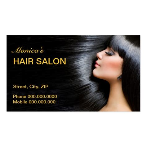 hair business cards templates hair salon business card zazzle