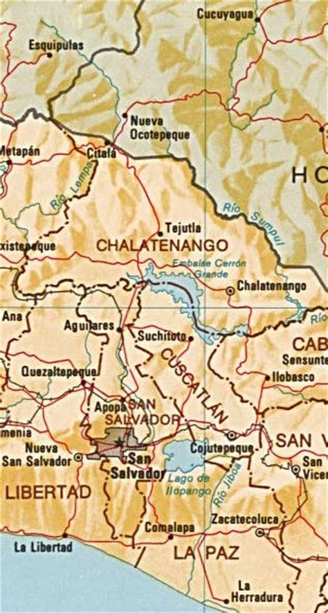 5 themes of geography el salvador el salvador maps including outline and topographical maps