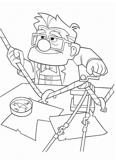 carl fredricksen setting rope  adventure  disney
