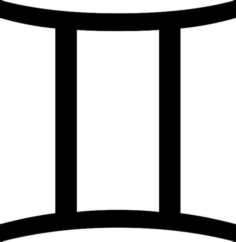 free vector graphic gemini zodiac sign symbol free