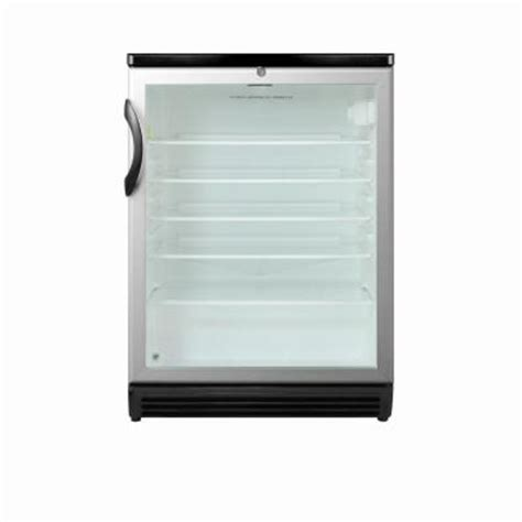 Cheap Glass Door Refrigerator Summit Appliance 5 5 Cu Ft Glass Door Mini Refrigerator In Black With Lock Scr600bl The Home