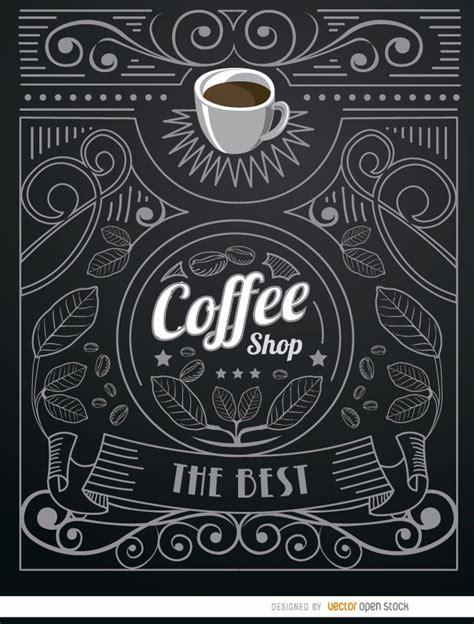 doodle shop coffee shop doodle logo with ornaments vector