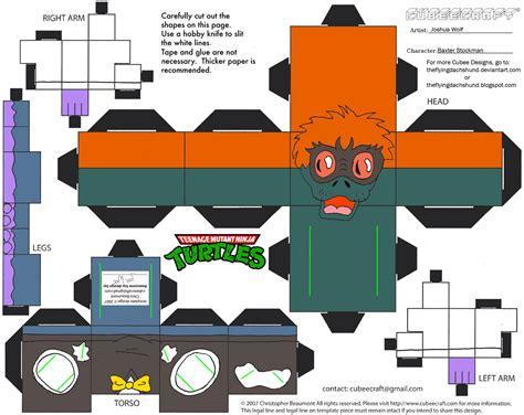 Tmnt Papercraft - tmnt12 baxter stockman cubee by theflyingdachshund on