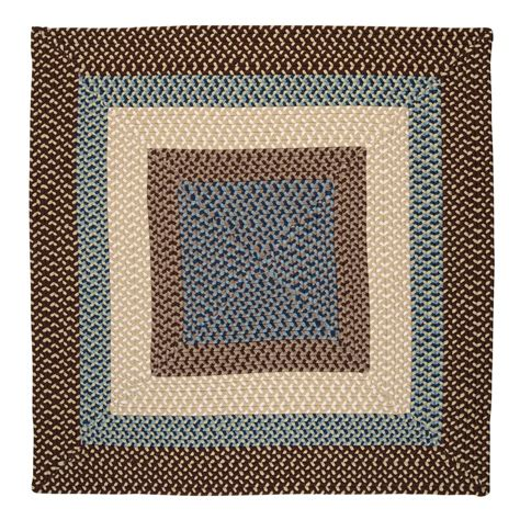 Square Indoor Outdoor Rug Shop Colonial Mills Montego Bright Brown Square Indoor Outdoor Braided Area Rug Common 4 X 4