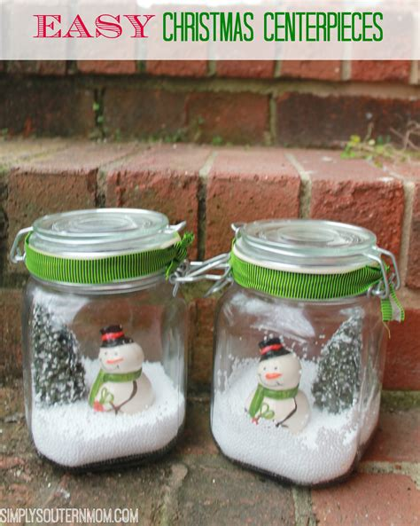 how to make easy snowman table centerpieces