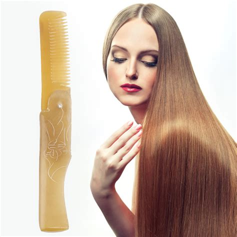 ox horn hairstyle hipster hair handmade natural horn comb antistatic ox horn combs