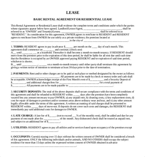 sle lease template sle rental contract template 28 images farmland lease