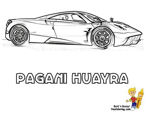 pagani drawing free coloring pages of pagani huayra