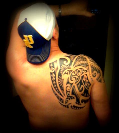 shoulder piece tattoo maori inspired back shoulder piece tattoo picture at
