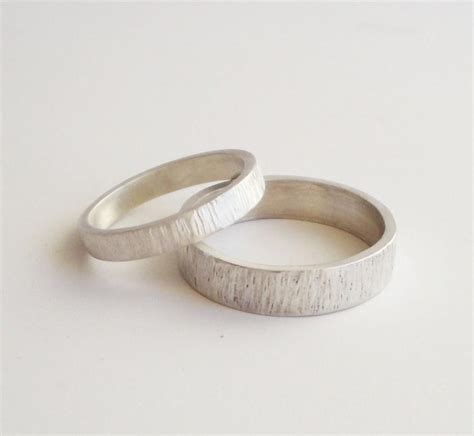 Handmade Sterling Silver Ring - simple wedding rings handmade hammered sterling silver