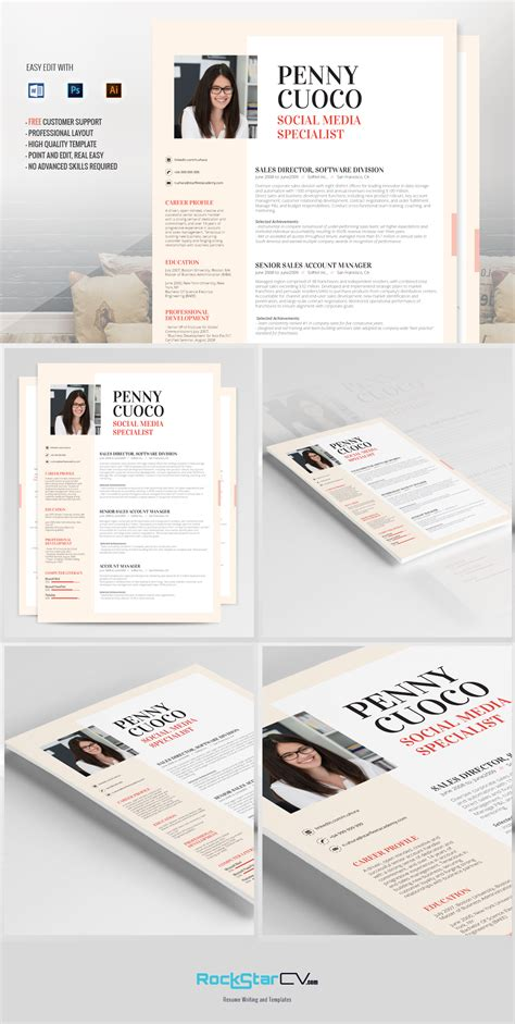 Resume Templates G by Resume Template Graffias Resume Templates On Creative Market
