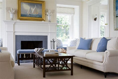 blue and cream living room southern home with neutral interiors home bunch interior