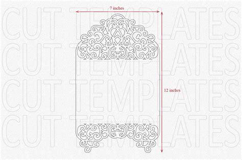 tri fold card cricut template tri fold invitation svg laser cut wedd design bundles