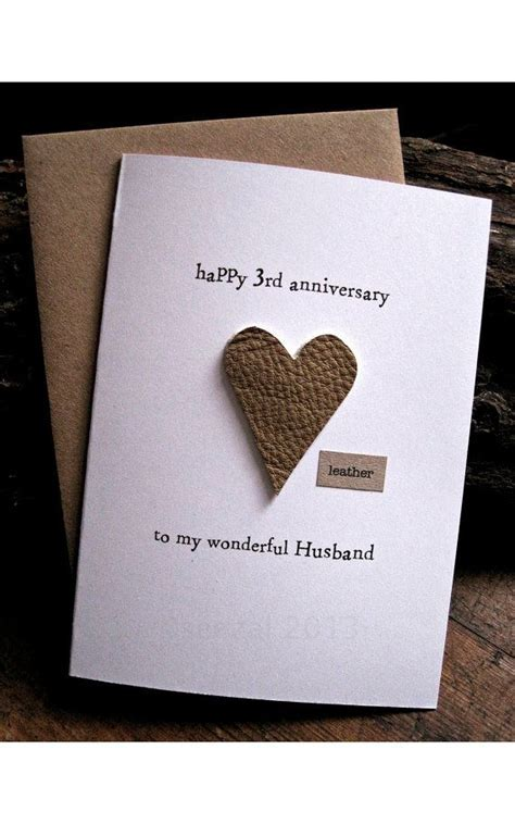 3rd Wedding Anniversary Card HUSBAND Traditional by
