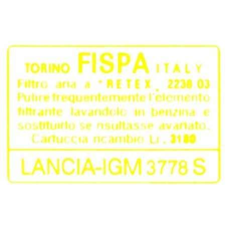 Name Aufkleber Für Auto by Lancia Fulvia Airbox Aufkleber Fispa By Ricambirossocorsa