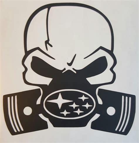 subaru emblem drawing skull decal gas mask with subaru chevy dodge by