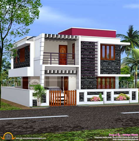 stylish low cost 1800 sq ft 4 bhk contemporary house design january 2015 kerala home design and floor plans