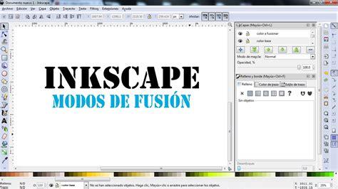 tutorial de como usar inkscape como usar inkscape modos de fusion youtube