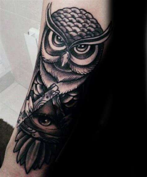illuminati owl tattoo design 100 illuminati tattoos for men enlightened design ideas