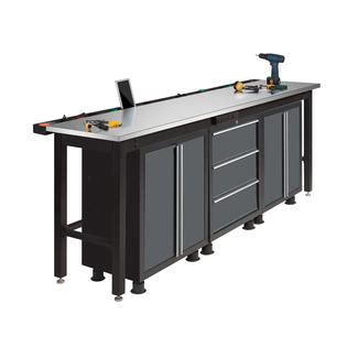 stainless steel work bench top newage products 96 in workbench with stainless steel top