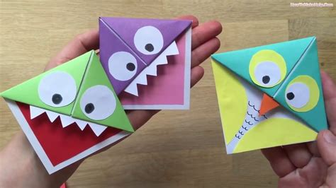 Paper Bookmarks To Make - easy origami comot