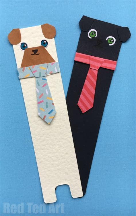 bookmark craft hug a book pug bookmark diy ted s