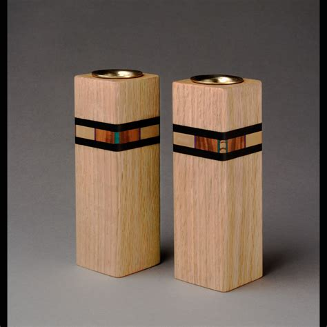 bold mosaic candleholders by martha collins wood