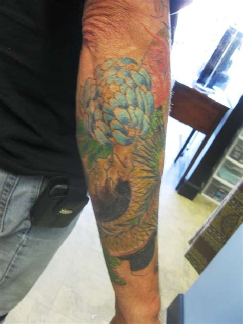 outer arm tattoo outer forearm