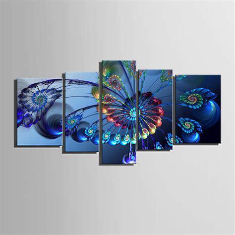 not framed canvas prints home decor wall art pictures 4pc not framed canvas prints wall art animals blue peacock